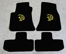 Autoteppich Fußmatten für Dodge Challenger Hellcat ab2008' Velours gelb 4tlg Neu