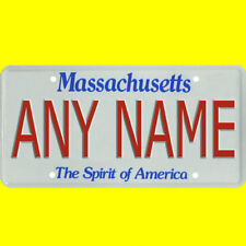 Bicycle license plate - Massachusetts design, new custom personalized, any name