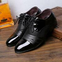 Men's Lace-Up Oxfords Dress Shoes Mens PU Leather Man Casual Party Driving Shoe