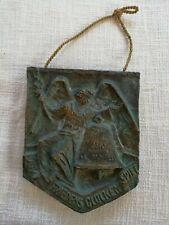 Massives Bronze/ Messing Relief Friedens-Glockenspiel signiert E. Kerle