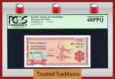Tt Pk 27a 1977-1981 Burundi 20 Francs Pcgs 68 Ppq Superb Gem New Pop One
