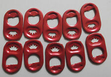205 RED ALUMINUM POP TABS tops pull beer soda charity crafts can 200 + steam