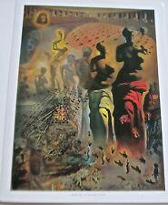 Salvador Dali Poster 14x11 The Hallucinogenic Toreador Offset Lithograph