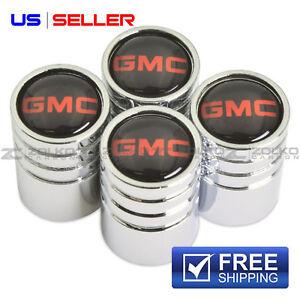GMC VALVE STEM CAPS WHEEL TIRE CHROME - US SELLER VE57