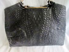 BIG BUDDHA Vegan Shoulder Bag Tote Handbag Satchel Carryall BLACK CHAINLINK