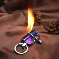 EDC Buckle Fire Flint Matches Kerosene Gas Oil Lighter Keychain Outdoor Camping