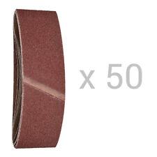 50x HSM Gewebe Schleifband 75x533mm Schleifbänder verschiedene Körnungen
