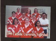 Catholic Cardinals--1999 Volleyball Pocket Schedule