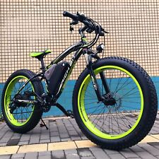 Rich Bit 1000w Fat tyre electric mountain bike GREEN AND BLACK