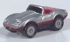 """Micro Machines Chevrolet 1975 75 Corvette Convertible 1.25"""" Scale Model Silver"""