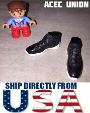 "KUMIK 1/6 Scale Sports Sneaker Shoes BLACK For 12"" Female Figure - U.S.A. SELLER"