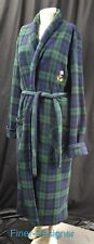 Disney Mickey Mouse House Coat long Robe Adult unisex SZ S M plush tartan plaid
