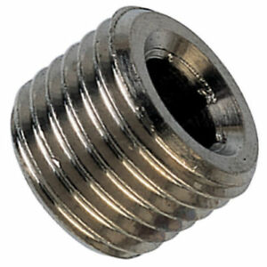 """Nickel Plated Male Threaded Plug for BSPT. Sizes 1/8"""", 1/4"""", 3/8"""" and 1/2""""."""
