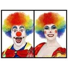 ADULTO CALIDAD multicolor Crazy Peluca de Payaso Hombre y mujer Disfraz de circo