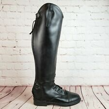 New listing Tuff Rider Womens Equestrian Tall Riding Boot Show Boot Black Leather Size 5