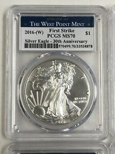 2016 (W) 30th Anniversary First Strike MS70 Silver Eagle (4 available)