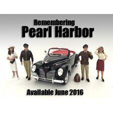 REMEMBERING PEARL HARBOR - Set of 4 figures -1/24 scale - AMERICAN DIORAMA