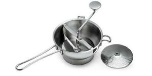 NEW Commercial Kitchen Mouli Food Mill 20CM 18/10 Stainless 2 Blades RRP $60