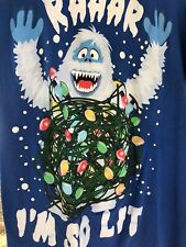 Rudolf the rednosed Reindeer Mens T Sz S Abominable Snowman I'm so Lit