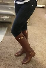 Tory Burch Leather Boots Almond Brown Women's size 5.5