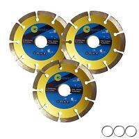 "115mm 4.5"" Diamond Angle Grinder Grinding Stone Brick Concrete Cutting Disc x 3"