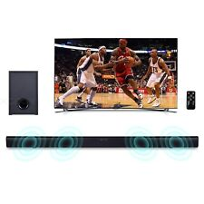 90W Powerful TV Sound Bar Home Theater Soundbar with Subwoofer Remote Control