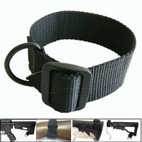 Heavy Duty For Rifle Gun Shotgun Stock Single Point Sling Loop Adapter Strap