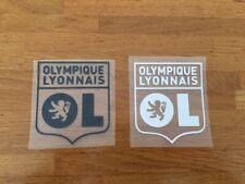OL OLYMPIQUE LYONNAIS PATCH FLOCAGE  NOIR OU BLANC - 10 CM PAR 11 CM