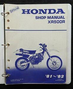 GENUINE 1981 1982 HONDA 500 XR500R DIRT BIKE MOTORCYCLE SERVICE MANUAL VERY GOOD