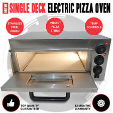Single Deck Stone Base Stainless Steel 2kw Electric Outdoor Pizza Oven