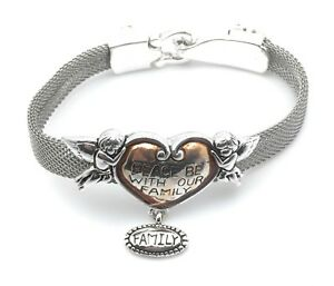 Bracelets Free Shipping Cherub Angel Heart Slider Dangle Charm Valentines Gift