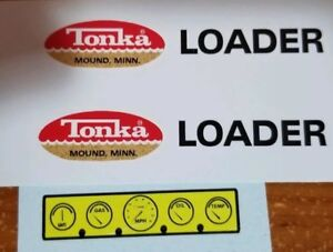 TONKA TRUCK LOADER DECAL SET WITH DASH
