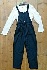 BNWT Outfit - Long Sleeve T-Shirt Top & Smart Dungaree - Style Trousers - 7 / 8