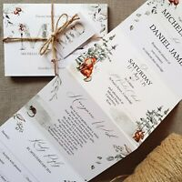 Personalised Wedding Invitations Evening Invites - Winter Woodlands - Handmade