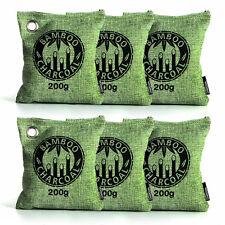 Bamboo Charcoal Bag Air Purifying Bag Air Freshener Odor Deodorizer 6 x 200g