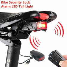 3 in 1 Fahrradalarmanlage Alarmschloss Fahrrad Lampe Rücklicht Fernbedienung ME