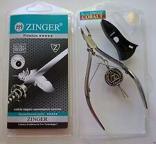 Zinger Premium Cobalt coated nail, manicure, cuticle nipper + plastik tip cover