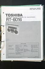 TOSHIBA rt-6016 ORIGINAL MANUAL DE SERVICIO/MANUAL/ESQUEMA conexiones