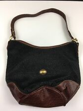 KENAR LARGE HOBO/SHOULDER BAG WOVEN TWEED AND LEATHER PURSE SUMMER BEACH HANDBAG