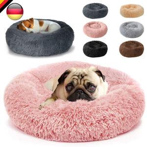 Plüsch Hundebett Katzenbett Hundekissen Hundekorb Weiches Schlafplatz Rund Donut