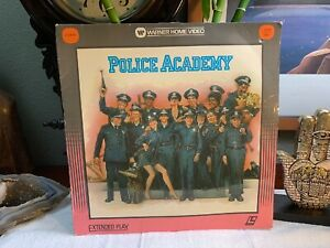 REDUCED Police Academy Laserdisc Movie Warner Extended Play PRISTINE Disc