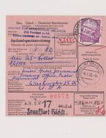 BUND, Mi. 188x, Ausl.PAW, Frankfurt - Washington, 6.7.55