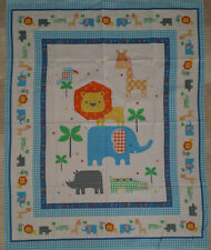 Brand New Animal Baby Cot Quilt Panel