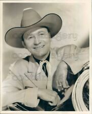 1945 Press Photo Country & Western Singer Tex Ritter 1940s