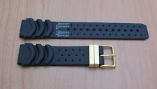 Citizen 59-L7384 Black Rubber Watch Band  20mm Fits MA9024-24E Watch