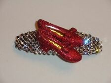 Crystals & RED RUBY SHOES Barrette Clear/Red DOROTHY!