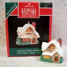 1991 Hallmark Miniature Ornament - Old English Village #4, The Inn