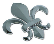 Fleur de Lis 3D Metal Auto Emblem [NEW] New Orleans Chrome Car Decal Sticker MVP