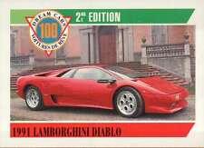 1991 Lamborghini Diablo, Dream Cars Trading Card, Automobile --- Not Postcard