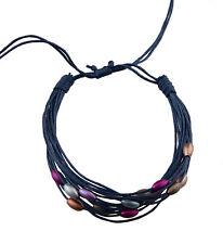 Bracelet multi fils marine perles pastel tous poignets-Line bresilien Wrap 938